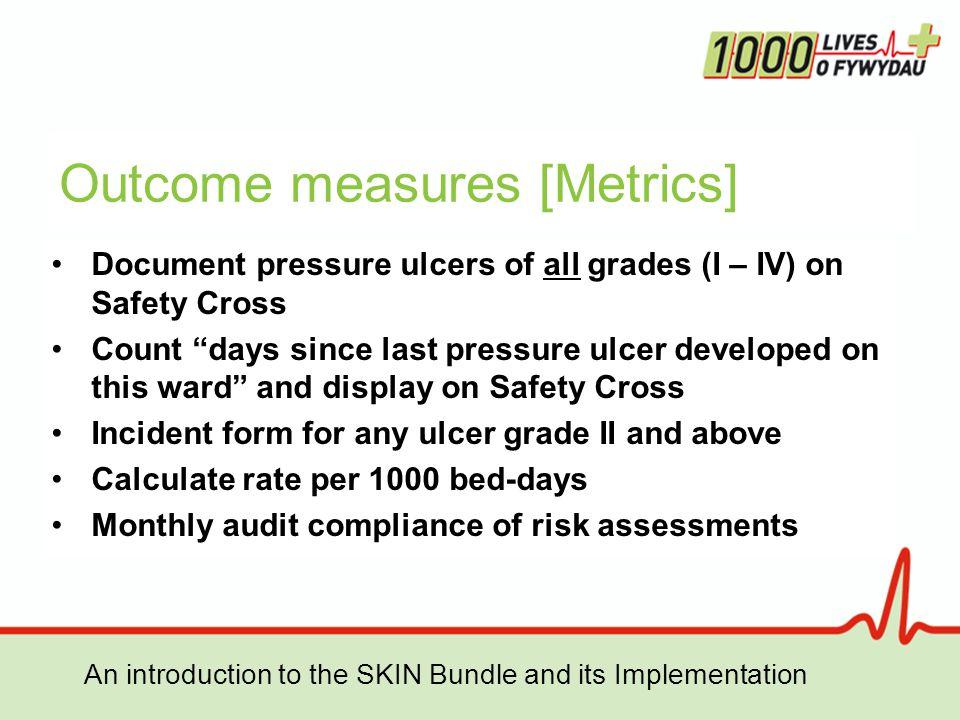Outcome measures [Metrics]